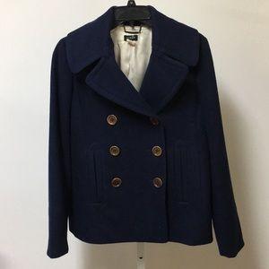 Women's navy medium JCrew wool jacket/ pea coat